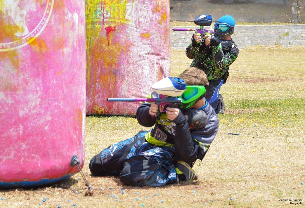 Candice D. Roberts Photography with Lee Crossland and Dale Mitchelson at Paintball City